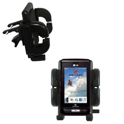 Vent Swivel Car Auto Holder Mount compatible with the LG KP550 Rip Curl