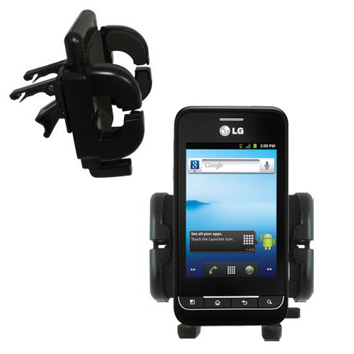 Vent Swivel Car Auto Holder Mount compatible with the LG Optimus 2