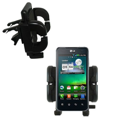 Vent Swivel Car Auto Holder Mount compatible with the LG Optimus 2X