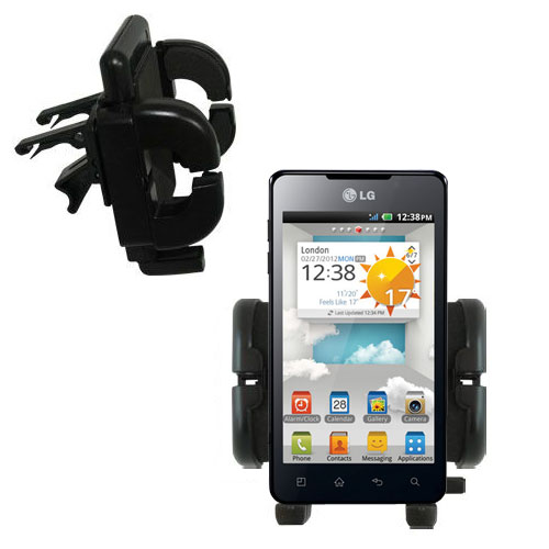 Vent Swivel Car Auto Holder Mount compatible with the LG Optimus 3D Max