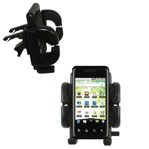 Vent Swivel Car Auto Holder Mount compatible with the LG Optimus Chic