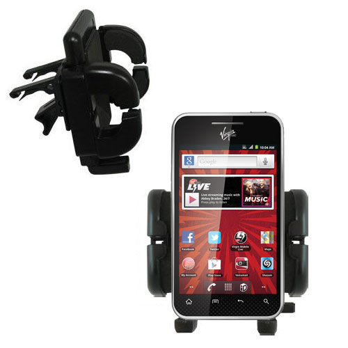 Vent Swivel Car Auto Holder Mount compatible with the LG Optimus Elite