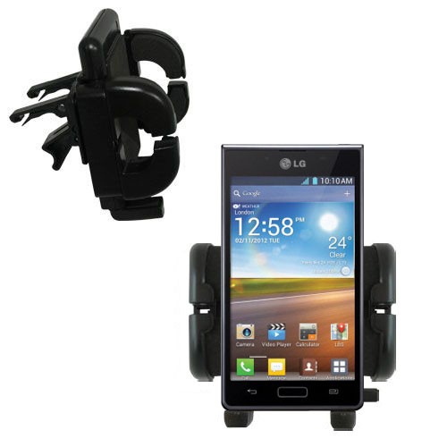 Vent Swivel Car Auto Holder Mount compatible with the LG Optimus L7