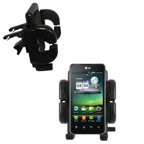 Vent Swivel Car Auto Holder Mount compatible with the LG Optimus Two