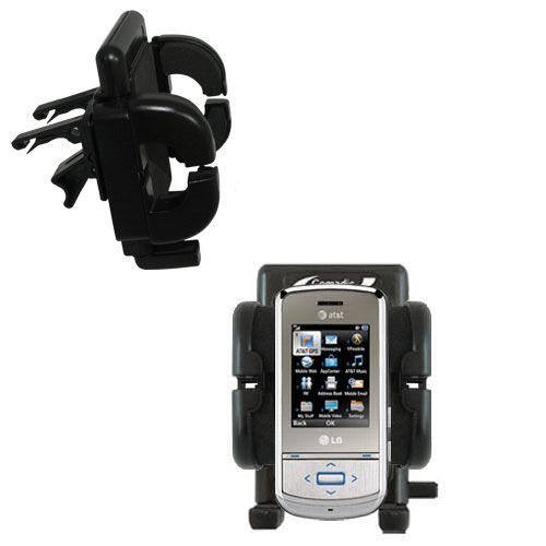 Vent Swivel Car Auto Holder Mount compatible with the LG Shine II GD710