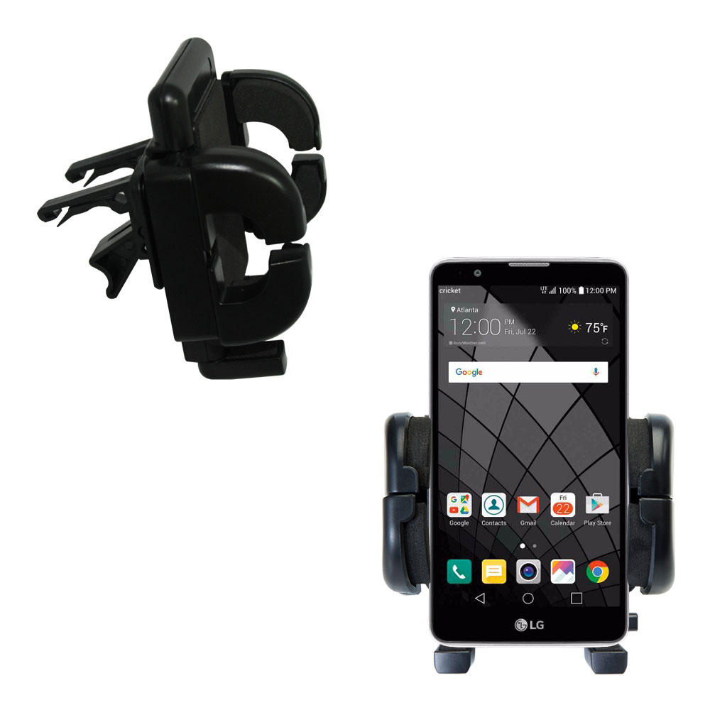 Vent Swivel Car Auto Holder Mount compatible with the LG Stylo 2 / 2V