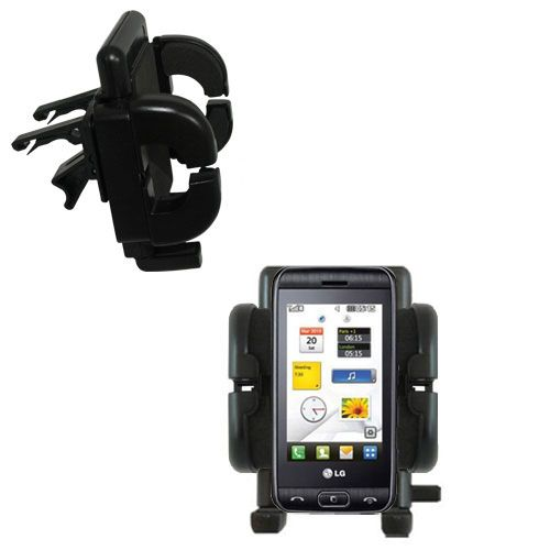 Vent Swivel Car Auto Holder Mount compatible with the LG Viewty Smile