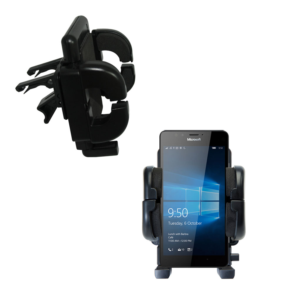 Vent Swivel Car Auto Holder Mount compatible with the Microsoft Lumia 950