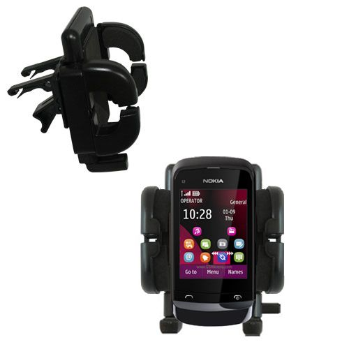 Vent Swivel Car Auto Holder Mount compatible with the Nokia C2-O2