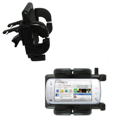 Vent Swivel Car Auto Holder Mount compatible with the Nokia N97 Mini