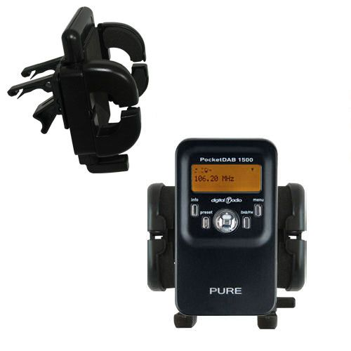Vent Swivel Car Auto Holder Mount compatible with the PURE PocketDAB 1500