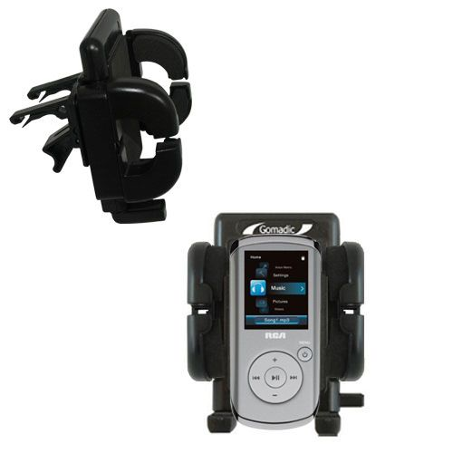 Gomadic Air Vent Clip Based Cradle Holder Car / Auto Mount suitable for the RCA M4102 Opal Digital Media Player - Lifetime Warranty