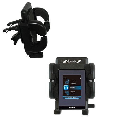 Vent Swivel Car Auto Holder Mount compatible with the RCA SLC5008 LYRA Slider Media Player
