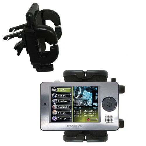Vent Swivel Car Auto Holder Mount compatible with the RCA X3000 LYRA Media Player