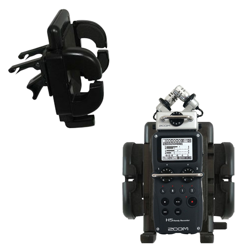 Vent Swivel Car Auto Holder Mount compatible with the Zoom H5 Handy Recorder