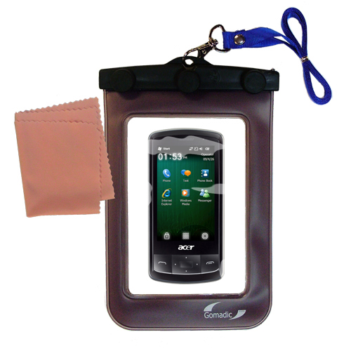 Waterproof Case compatible with the Acer beTouch E200 E210 to use underwater