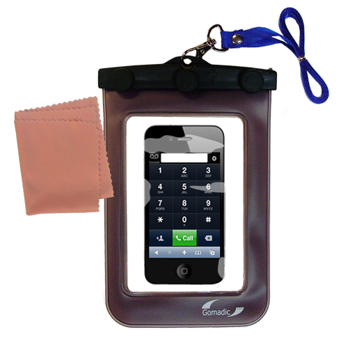 Waterproof Case compatible with the Apple iPhone 4 to use underwater