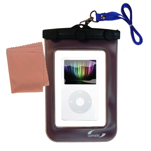 Waterproof Case compatible with the Apple iPod 5G Video (30GB) to use underwater