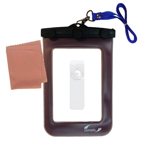 Waterproof Case compatible with the Apple iPOD Shuffle (1st Gen) to use underwater