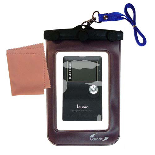 Waterproof Case compatible with the Cowon iAudio X5 to use underwater