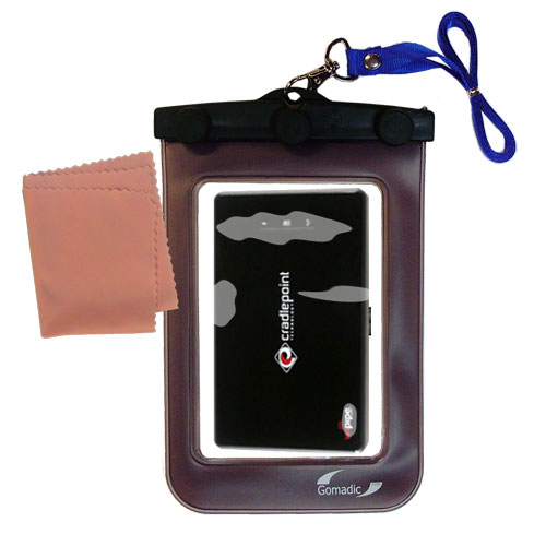 Waterproof Case compatible with the Cradlepoint PHS 300  to use underwater