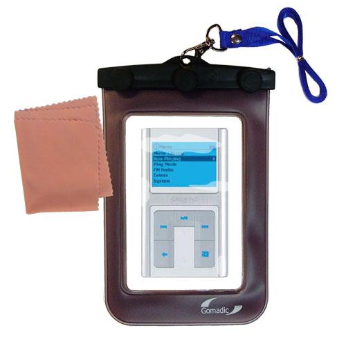 Waterproof Case compatible with the Creative Zen Sleek Photo to use underwater