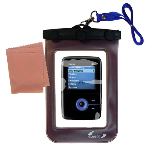 Waterproof Case compatible with the Creative Zen V Plus to use underwater