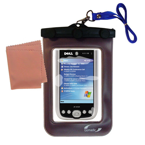 Waterproof Case compatible with the Dell Axim X50 X50v to use underwater