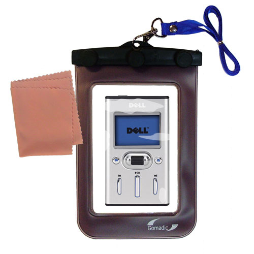 Waterproof Case compatible with the Dell Pocket DJ 15GB to use underwater
