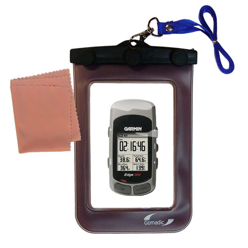 Waterproof Case compatible with the Garmin Edge 305 to use underwater