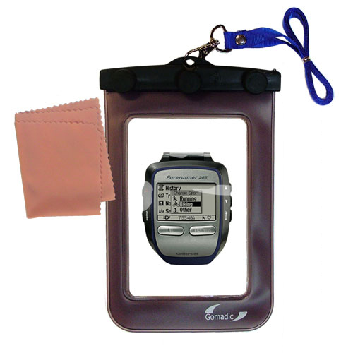 Waterproof Case compatible with the Garmin Forerunner 205 to use underwater