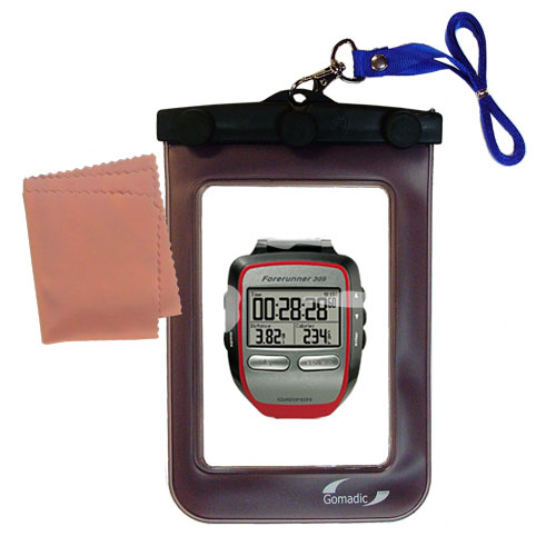 Waterproof Case compatible with the Garmin Forerunner 305 to use underwater