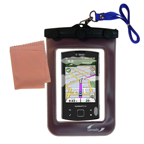Waterproof Case compatible with the Garmin Garminfone to use underwater