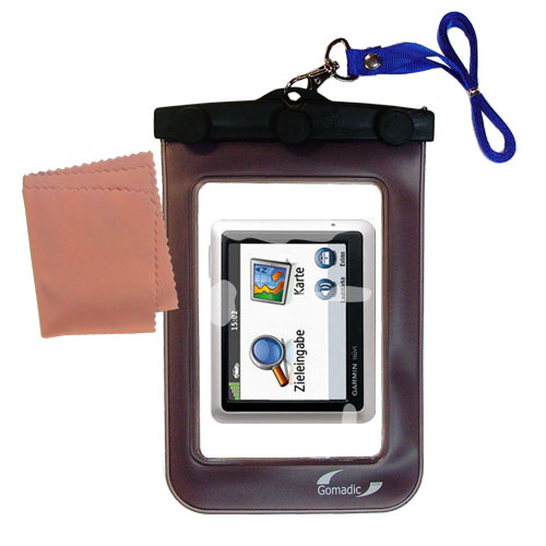 Waterproof Case compatible with the Garmin Nuvi 1240 to use underwater