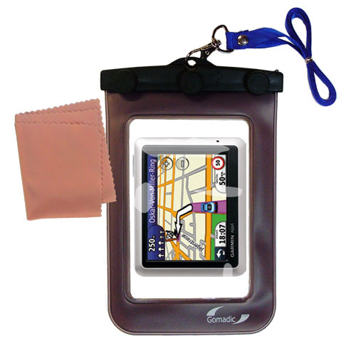 Waterproof Case compatible with the Garmin Nuvi 1245 City Chic to use underwater