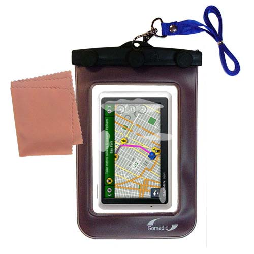 Waterproof Case compatible with the Garmin Nuvi 1300 to use underwater