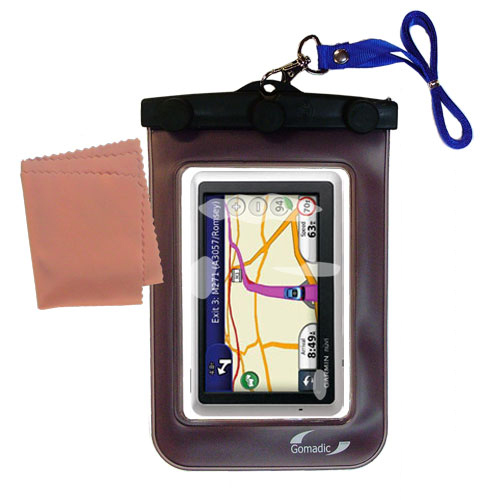 Waterproof Case compatible with the Garmin Nuvi 1340 to use underwater