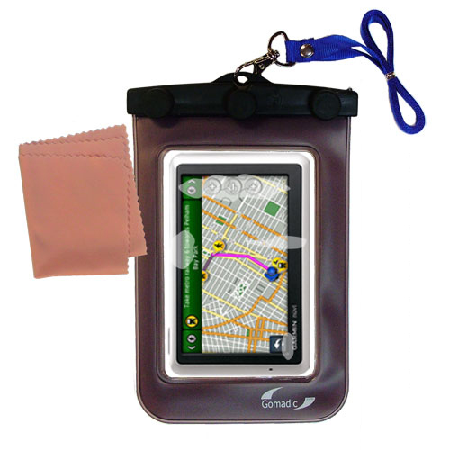 Waterproof Case compatible with the Garmin Nuvi 1350 to use underwater