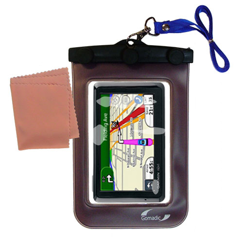 Waterproof Case compatible with the Garmin Nuvi 1370T to use underwater