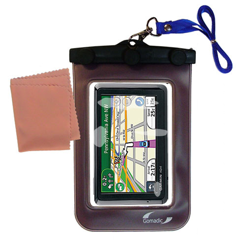 Waterproof Case compatible with the Garmin Nuvi 1370Tpro to use underwater