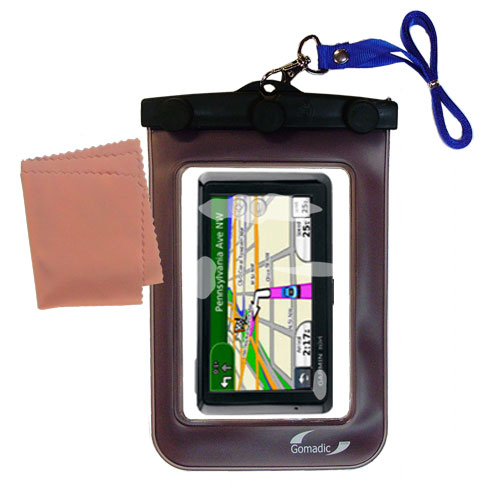 Waterproof Case compatible with the Garmin Nuvi 1390T to use underwater
