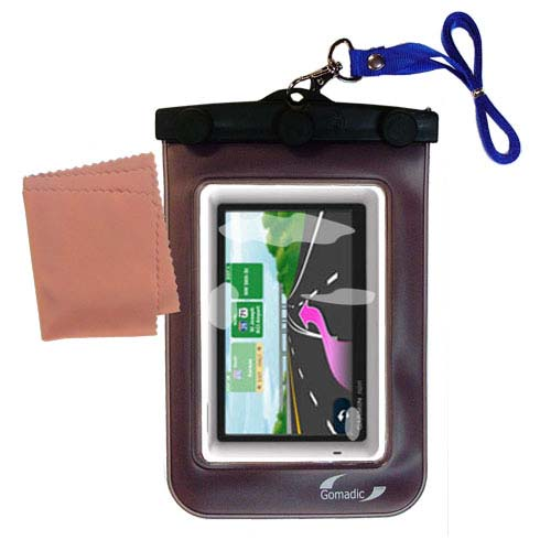 Waterproof Case compatible with the Garmin Nuvi 1450 to use underwater