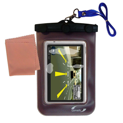 Waterproof Case compatible with the Garmin Nuvi 1450T to use underwater