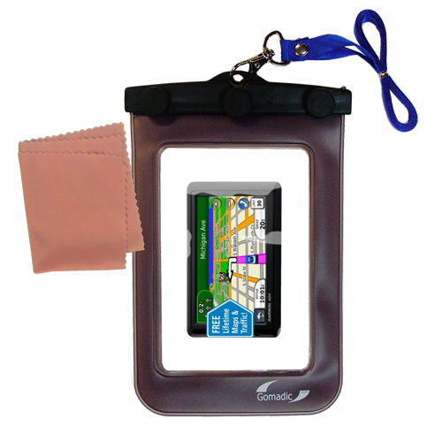 Waterproof Case compatible with the Garmin nuvi 1490LMT 1490T to use underwater