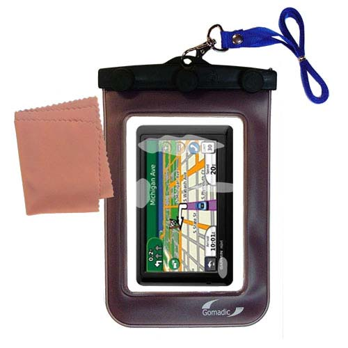 Waterproof Case compatible with the Garmin Nuvi 1490T to use underwater