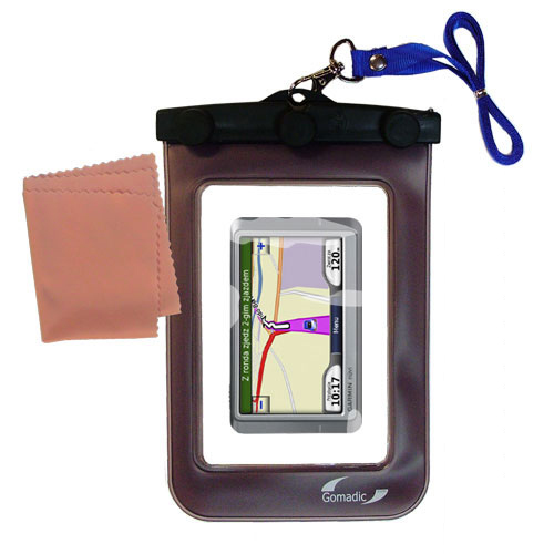 Waterproof Case compatible with the Garmin Nuvi 205W to use underwater