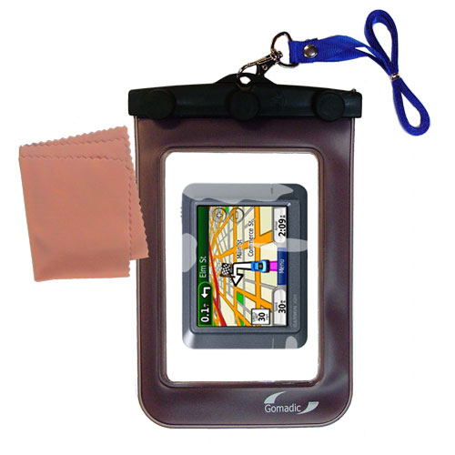 Waterproof Case compatible with the Garmin Nuvi 215 to use underwater