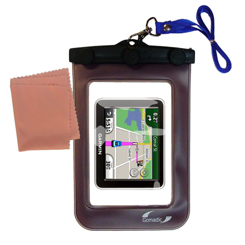 Waterproof Case compatible with the Garmin Nuvi 2240 to use underwater