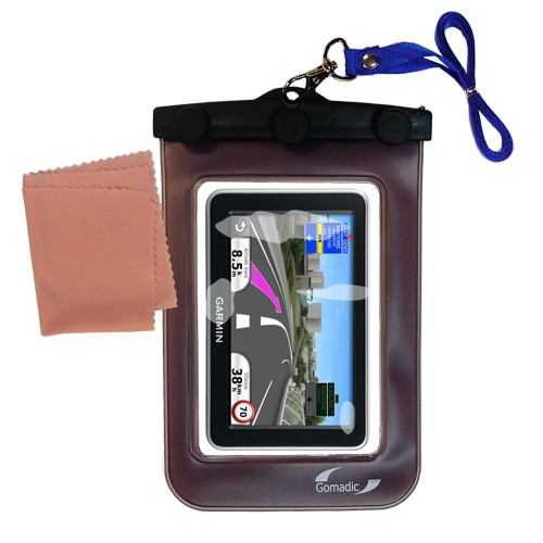 Waterproof Case compatible with the Garmin Nuvi 2340 2350 2360 2360LMT 2370 2370LT to use underwater
