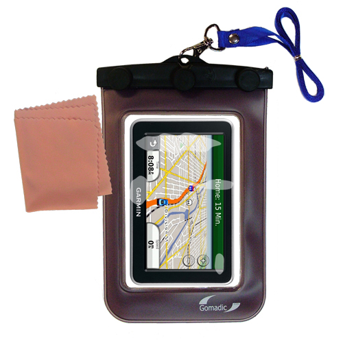 Waterproof Case compatible with the Garmin Nuvi 2350 to use underwater